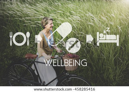 Wellbeing Medical Health Proper Care Concept - stock photo