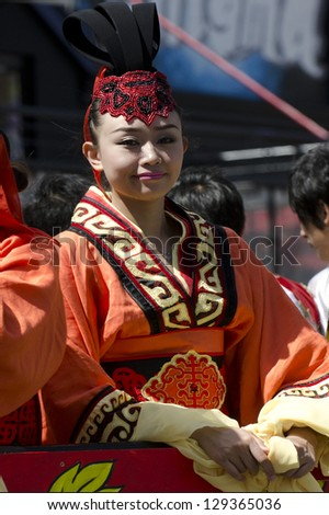 WELLINGTON - FEB 24:A Chinese woman celebrate the Year of the lunar snake on February 24 2013 Wellington,NZ.The Chinese Spring Festival is the most important traditional Chinese holidays.
