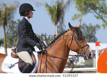 WELLINGTON, FL - MARCH 20: Lauren Ward, wife of famed Olympian McClain Ward, and Nistrale competing during week 10 of the Winter Equestrian Festival  March 20, 2010 in Wellington, FL