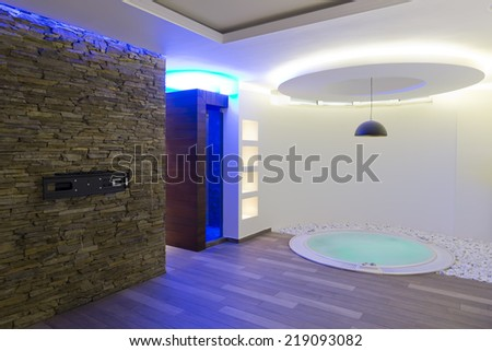 Wellness and spa interior - stock photo