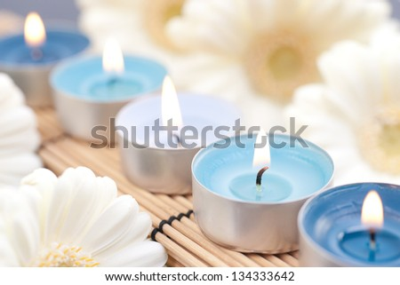 Wellness, candles - stock photo