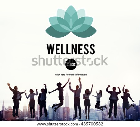 Wellness Relax Wellbeing Nature Balance Exercise Concept - stock photo