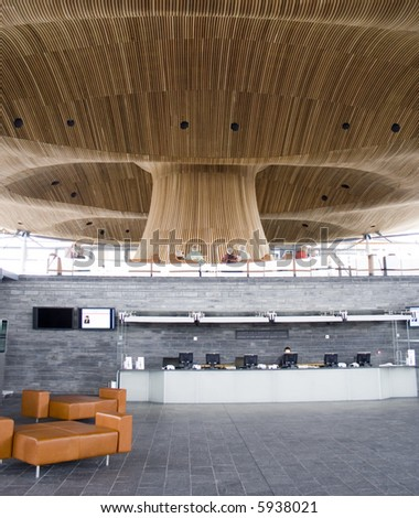 Welsh Assembly Building Lobby - stock photo