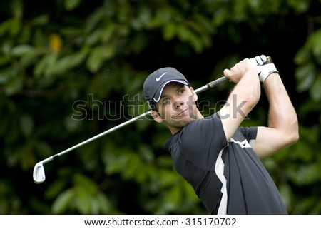 WENTWORTH, ENGLAND. 22 MAY 2009.Paul Casey (GBR) playing in the 2nd round of the European Tour BMW PGA Championship. - stock photo