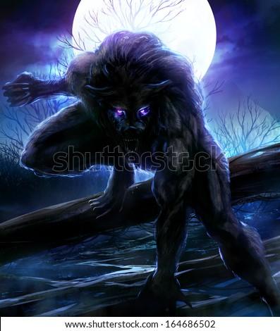 Werewolf - stock photo