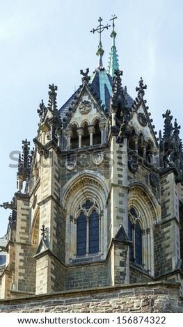 Wernigerode Castle is a castle located in the Harz mountains above the town of Wernigerode. Church