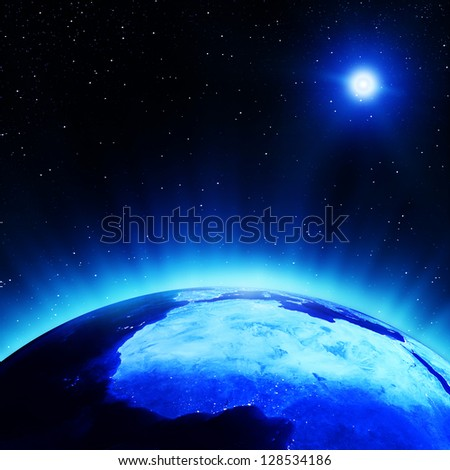 West Africa at night. Elements of this image furnished by NASA