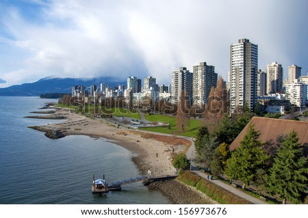 West End and English Bay, Vancouver - stock photo