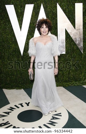 WEST HOLLYWOOD, CA - FEB 26: Carole Bayer Sager at the Vanity Fair Oscar Party at Sunset Tower on February 26, 2012 in West Hollywood, California.