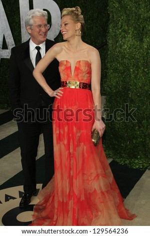 WEST HOLLYWOOD, CA - FEB 24: Elizabeth Banks, Richard Gere at the Vanity Fair Oscar Party at Sunset Tower on February 24, 2013 in West Hollywood, California - stock photo