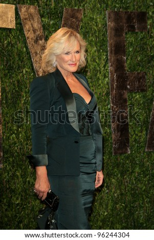 WEST HOLLYWOOD, CA - FEB 26: Glenn Close at the Vanity Fair Oscar Party at Sunset Tower on February 26, 2012 in West Hollywood, California.