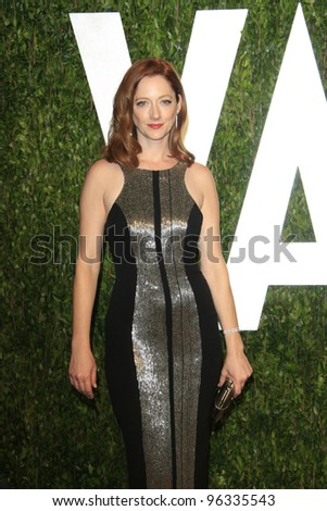 WEST HOLLYWOOD, CA - FEB 26: Judy Greer at the Vanity Fair Oscar Party at Sunset Tower on February 26, 2012 in West Hollywood, California.