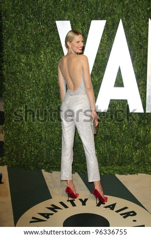WEST HOLLYWOOD, CA - FEB 26: Karolina Kurkova at the Vanity Fair Oscar Party at Sunset Tower on February 26, 2012 in West Hollywood, California.