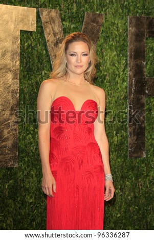 WEST HOLLYWOOD, CA - FEB 26: Kate Hudson at the Vanity Fair Oscar Party at Sunset Tower on February 26, 2012 in West Hollywood, California.