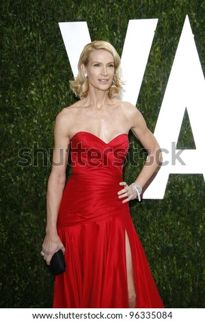 WEST HOLLYWOOD, CA - FEB 26: Kelly Lynch at the Vanity Fair Oscar Party at Sunset Tower on February 26, 2012 in West Hollywood, California.