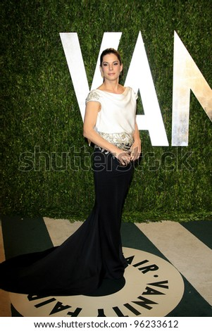 WEST HOLLYWOOD, CA - FEB 26: Sandra Bullock at the Vanity Fair Oscar Party at Sunset Tower on February 26, 2012 in West Hollywood, California. - stock photo