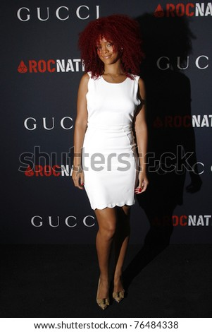 WEST HOLLYWOOD - FEB 13:  Rihanna at the Gucci and RocNation Pre-GRAMMY Brunch in West Hollywood, California on February 13, 2011. - stock photo