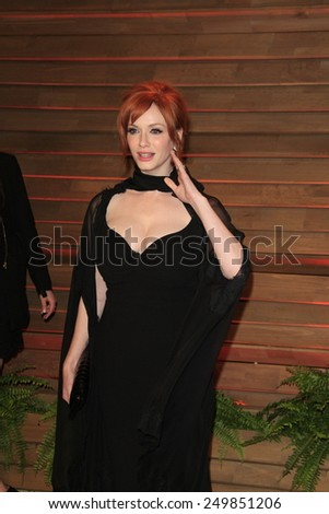 WEST HOLLYWOOD - MAR 2:: Christina Hendricks at the 2014 Vanity Fair Oscar Party on March 2, 2014 in West Hollywood, California - stock photo