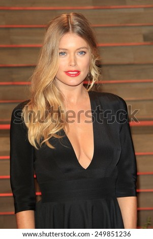 WEST HOLLYWOOD - MAR 2:: Doutzen Kroes at the 2014 Vanity Fair Oscar Party on March 2, 2014 in West Hollywood, California - stock photo