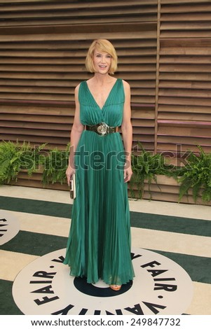 WEST HOLLYWOOD - MAR 2:: Kelly Lynch at the 2014 Vanity Fair Oscar Party on March 2, 2014 in West Hollywood, California - stock photo