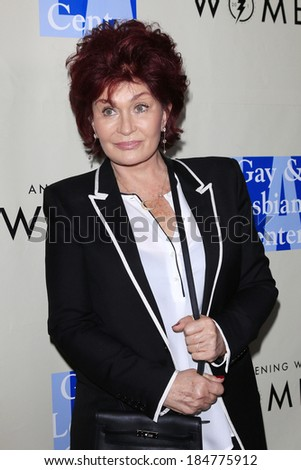 WEST HOLLYWOOD - MAR 15: Sharon Osbourne at An Evening with Women kick-off concert presented by the L.A. Gay & Lesbian Center at The Roxy Theater on March 15, 2014 in West Hollywood, CA - stock photo
