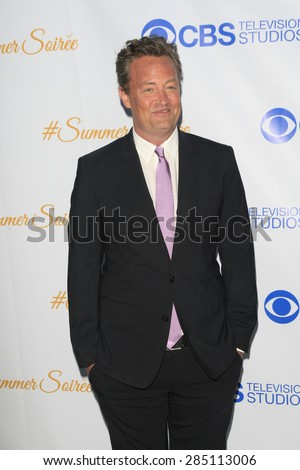 WEST HOLLYWOOD - MAY 18: Matthew Perry at the CBS Television Studios 3rd Annual Summer Soiree Party held at The London Hotel on May 18, 2015 in West Hollywood, California - stock photo