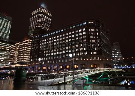 West India Quay, London, England, UK - stock photo