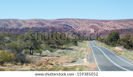 West Macdonnell Ranges Australia scene - stock photo