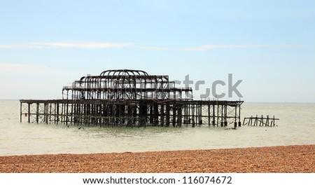 West Pier, Brighton, England - stock photo