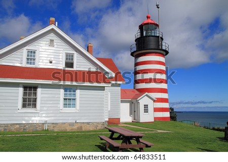 West Quoddy Head Lighthouse and museum