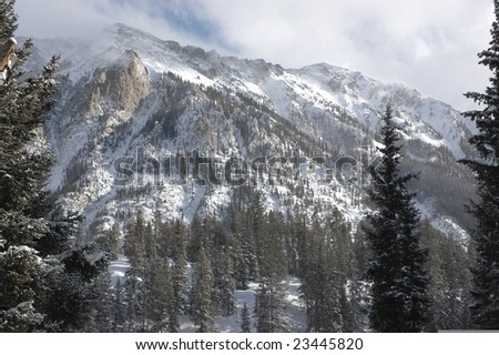 West side of Peak One & Two near Dillon, CO in Summit County - stock photo