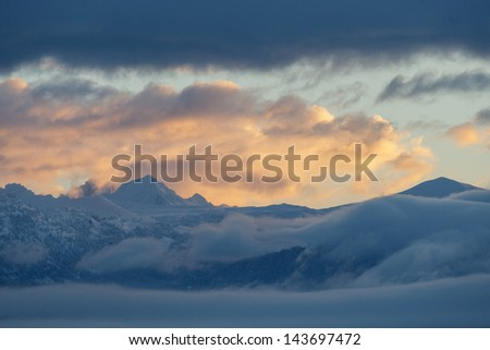 West Slope Dawn - stock photo
