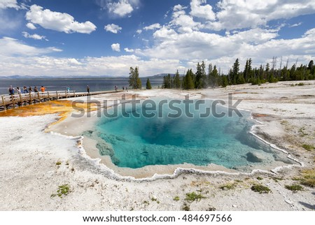 West Thumb in Yellowstone National Park , USA