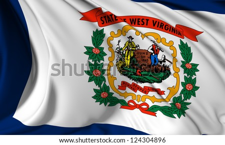 West Virginia flag - USA state flags collection no_3 - stock photo