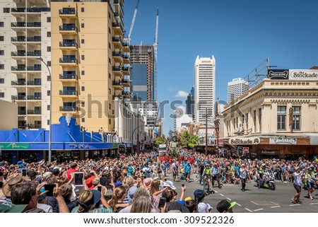 Western Australia, Perth, February 13- 14, 2015 - The Giants to the Streets of Perth, Commemorating the Centenary of ANZAC.