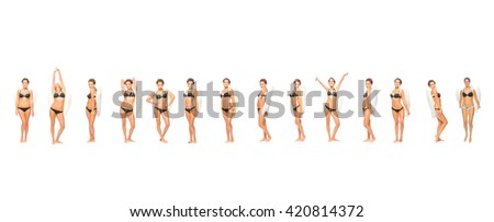Western Culture All in Lingerie  - stock photo