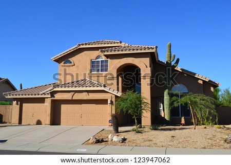 Western Ranch Style House - stock photo