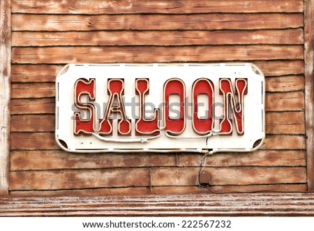 Western Saloon - stock photo