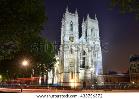 Westminster Abbey church, London, England, UK - stock photo