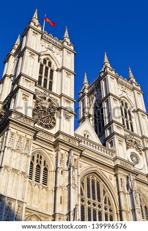 Westminster Abbey in London. - stock photo