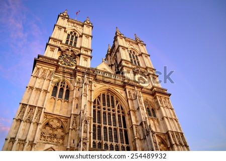 Westminster Abbey in London, UK - stock photo
