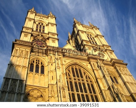 Westminster Abbey, London, UK - stock photo