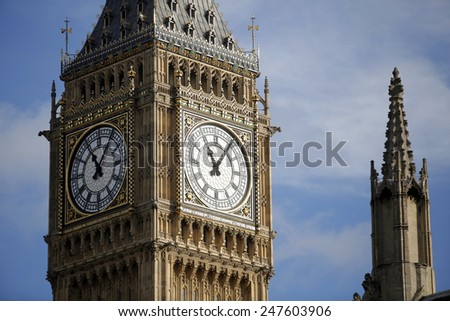 Westminster Big Ben, London - stock photo