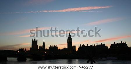 Westminster Sunset - stock photo