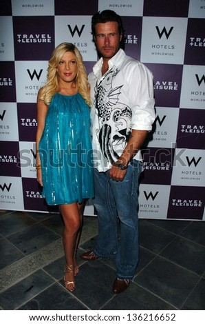 WESTWOOD - APRIL 19: Tori Spelling and Dean McDermott at the 35th Birthday Celebration for Travel and Leisure Magazine in W Hotel on April 19, 2006 in Westwood, CA.