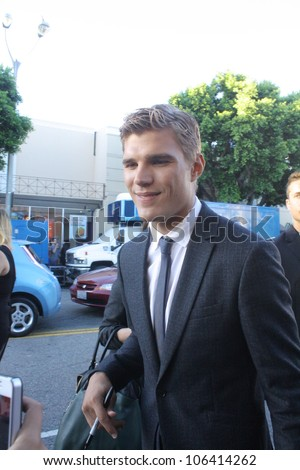 "WESTWOOD CA - JUNE 28: Chris Zylka attends ""The Amazing Spiderman"" premiere held at the Regency's Village Theatre June 28, 2012 Westwood, CA."