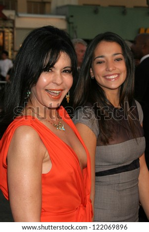 "WESTWOOD, CA - NOVEMBER 05: Maria Conchita Alonso and Natalie Martinez at a Special Presentation of ""Babel"" in Mann Village November 05, 2006 in Westwood, California"