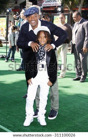 WESTWOOD, CA - OCTOBER 26, 2008: Will Smith and Jaden Smith at the Los Angeles premiere of 'Madagascar: Escape 2 Africa' held at the Mann Village Theater in Westwood, USA on October 26, 2008. - stock photo