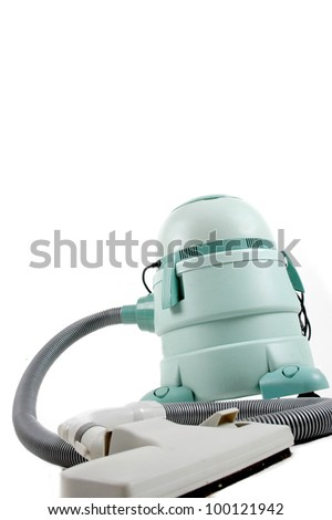 wet and dry vacuum cleaner isolated on white background - stock photo