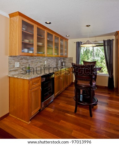 Wet bar in a house - stock photo